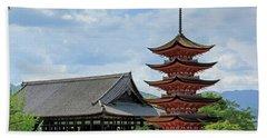 Pagoda - Mayijima, Japan Hand Towel