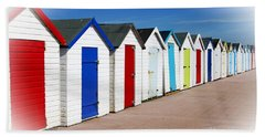 Paignton Beach Huts Hand Towel