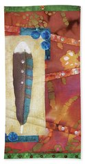 Painted Feather Bath Towel