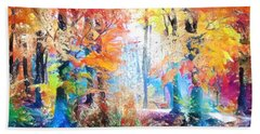 Painted Forest Hand Towel