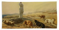Pallas Athena And The Herdsman's Dogs, 1876 Hand Towel