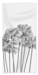 Palm Tree Grove In Black And White Bath Towel