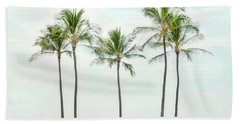 Palm Trees On The Beach Hand Towel
