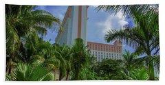 Palms At The Riu Cancun Bath Towel