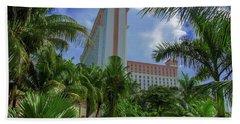 Palms At The Riu Cancun Hand Towel