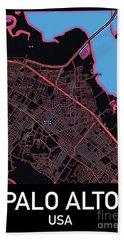 Palo Alto City Map Hand Towel