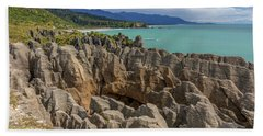 Pancake Rocks - New Zealand Hand Towel