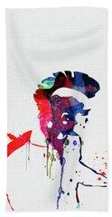 Pank Watercolor Hand Towel