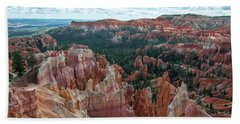 Panorama  From The Rim, Bryce Canyon  Bath Towel