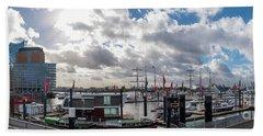 Panoramic View Of Hamburg Bath Towel