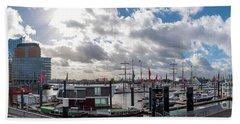 Panoramic View Of Hamburg Hand Towel