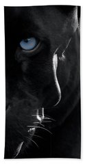 Bath Towel featuring the digital art Pantheress by ISAW Company