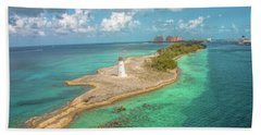 Paradise Island Lighthouse Bath Towel
