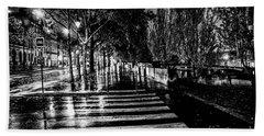 Paris At Night - Quai Voltaire Hand Towel