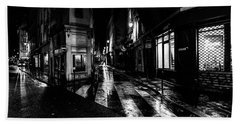 Paris At Night - Rue De Seine Hand Towel