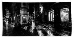 Paris At Night - Rue De Seine Bath Towel
