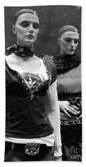 Paris Mannequins - Paris Black White Fashion Window Mannequins - Paris Window Mannequin Art Deco Hand Towel