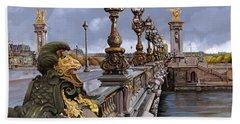 Paris-pont Alexandre Terzo Hand Towel