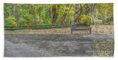 Park Bench @ Sharon Woods Bath Towel