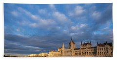 Parliament On The Danube Hand Towel