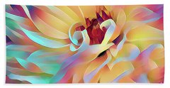 Party Time Dahlia Abstract Bath Towel