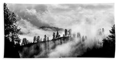 Passing Storm Central Idaho Mountains Hand Towel