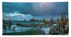 Passing Storm, Mono Lake Hand Towel