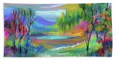 Pastel Landscape Bath Towel