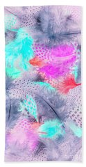 Pastel Plumes Hand Towel
