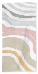 Pastel Waves 1- Art By Linda Woods Bath Towel