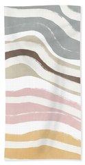 Pastel Waves 2- Art By Linda Woods Bath Towel