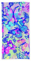 Pastel Wings And Button Butterflies Bath Towel