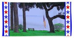 Patriotic Scene From Fairhope Alabama Bath Towel