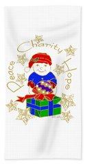 Peace Charity Hope Hand Towel