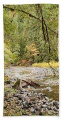 Peaceful Molalla River Bath Towel