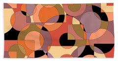 Peach Circle Abstract Hand Towel