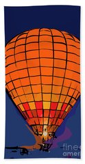 Peach Hot Air Balloon Night Glow In Abstract Hand Towel