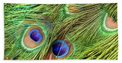 Peacock Feathers Hand Towel