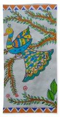 Peacock In Madhubani Hand Towel