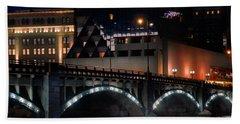 Pearl Street Bridge Grand Rapids  Hand Towel