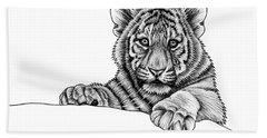 Peeking Tiger Cub Bath Towel