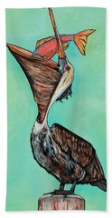 Pelican On The Edge Bath Towel