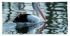 Pelican On The Lake Hand Towel