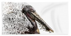 Pelican With Transparent Background Hand Towel