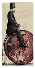 Penny Farthing Hand Towel