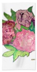 Peonie Roses Hand Towel