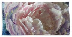 Hand Towel featuring the painting Peony -transparent Petals by Ryn Shell