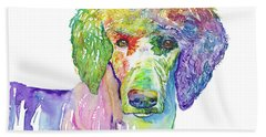 Perfect Poodle Hand Towel