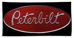 Peterbilt Emblem Black Bath Towel