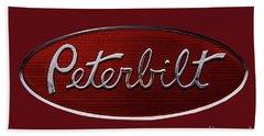 Peterbilt Emblem Red 8 Bath Towel